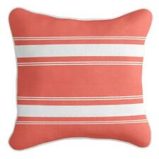 French Stripe - Premium Cushion Cover | Quality Indoor Outdoor Coral Orange