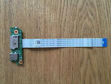 Dell Inspiron 15 3542 USB Port SD Reader Board + Ribbon Cable C0T2X 0XP600