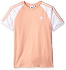 Men's adidas Originals California Trefoil Tee Shirt Medium Cv6000 Dust Pink