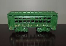 REPRODUCTION CAST IRON GREEN ST. LOUIS & OHIO RIVER PASSENGER TRAIN CAR