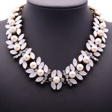 ZARA BEAUTIFUL WHITE PEARLS WHITE CLEAR STONES NECKLACE – NEW