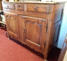 """200 year old French Louis XV Style Walnut Sideboard early 1800's W 55"""" 2 Doors"""