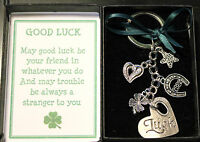 Good Luck Gift Keyring Keepsake New Job Retirement Exams Wedding etc occasions