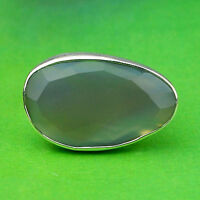 925 Sterling silver Chalcedony Gemstone Ring Size 5.5 US 6.61 g