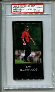 1997-98 TIGER WOODS ROOKIE MASTERS  GOLD FOIL PSA 6