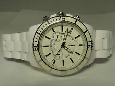 FOSSIL CH2624 10ATM White Stainless Steel Chronograph Working Men's Watch 65901