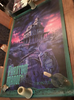 "RARE 54"" tall Park Size Phantom Manor Haunted Mansion Paris Disneyland poster"