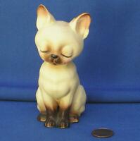 VTG Josef Originals Siamese cat daddy Pappa sitting ceramic miniature Figurine
