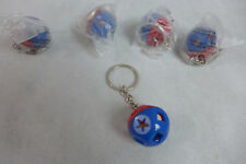 Tupperware Mini Toy Shape O Ball Keychains Lot of 5  Red & Blue New Gadget