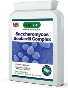 Saccharomyces Boulardii Probiotic Gastrointestinal & Immune Support 90 Capsules