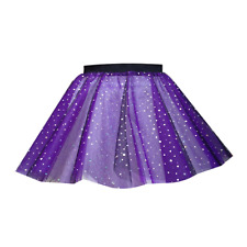 Adults HALLOWEEN SPARKLE TUTU FANCY DRESS COSTUME TU-TU 12 INCH Black Sparkle