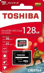 Toshiba 128GB  EXCERIA M303 with SD Adapter micro SD Card Memory Card Read