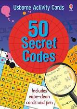 Usborne 50 Secret Codes - Children's Activity Code Breaking Spy Card Pack