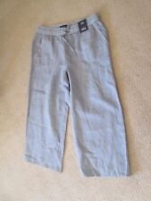 M&S Collection - mid rise wide leg cropped trousers - size 10