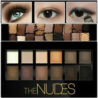 Neu Farben Schönheit Matte Schimmer Palette Lidschatten Make-up Se + Pinsel E5S2