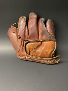 Vintage RARE Early 1900s 1910s Original Leather Baseball Glove
