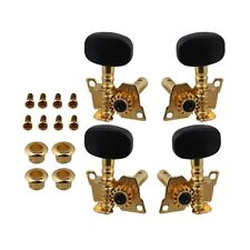 BQLZR Gold-Plated 2R2L Tuning Peg Machine Head Tuners For Ukulele 4 String Gu...
