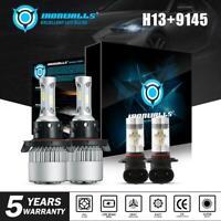LED Headlight H13+9145 Bulbs Kit Fog Light for Dodge Ram 1500 2500 3500 06-2018