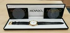 Movado 87-E4-0885 Stainless Steel Quartz Watch w/ Calfskin Leather Band + Case