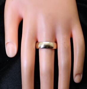 4.6 Gram 10K Yellow Gold Men's Wedding 7mm Band/Ring Size 12