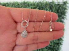 .55 Carat Total Weight Diamond 18K White Gold Necklace N66 sep (PRE-ORDER)