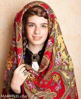 Discontinued 1580-6 Fantastic Motives Womens scarf 100% Wool Shawl Pavlovo Posad