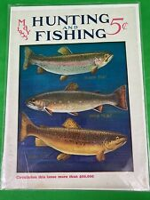 Vintage 1933 Hunting & Fishing Magazine Trout Front Cover Only Outdoor Decor