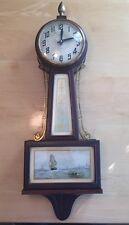 Antique NEW HAVEN Clock Company Whitney Banjo Clock 1920s Wall Clock Home Decor
