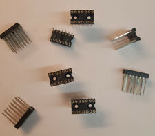 (Lot of 5pcs) Robinson Nugent 14 Pin Wire Wrap Machined DIP IC Socket -14P