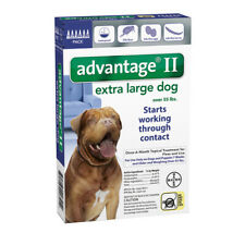 Bayer Advantage II For Dogs Over 55lbs - 6 Pack (US EPA Approved) Free Shipping