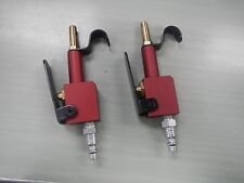 Lot of (2) Pneumatic Lever-operated Compressed Air Blow Guns - Red.  Made in USA