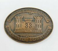 Vintage US Army Badge US ENGINEER DEPT. ALBUQUERQUE 33 District WW2 MASONIC??