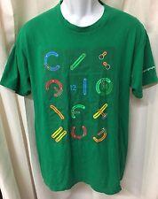 Google Developers Staff 2012 Employee T Shirt Mens LARGE L Green