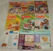 Lot 37 Crafting Magazines *Cross Stitch, Quilting, Crafts *