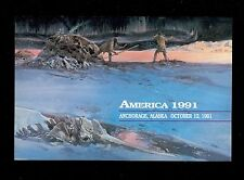 USA #C131 1991 50c America Airmail Stamp First Day Ceremony Program