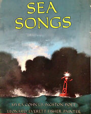 Sea Songs by Myra Cohn Livingston (1986, Hardcover) Illustrated Leonard E Fisher