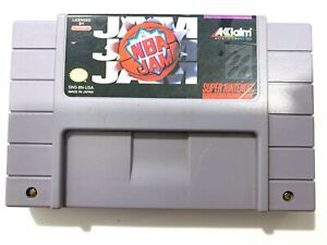 NBA JAM Super Nintendo SNES Basketball Game - Tested - Working - Authentic!