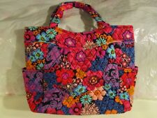 VERA BRADLEY Pleated Tote Bag Large Purse Floral Fiesta NEW TAGS