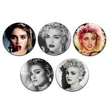 5x Madonna 80's Pop Singer 25mm / 1 Inch D Pin Button Badges