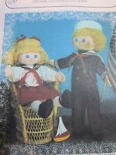 """DAISYMAE 21"""" SOFT CLOTH DOLL SEWING PATTERNS SKIPPER & KATE SAILOR CLOTHES NAVY"""