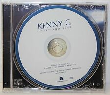 KENNY G : HEART and SOUL - Smooth Jazz - Saxophone - Promo CD (2010) - NEW