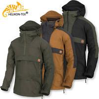 Mens Jacket Helikon ANORAK WOODSMAN Army Military Kangaroo Tactical Hooded Coat
