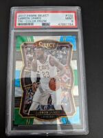 2017-18 Panini Select Lebron James Concourse Tri-Color Prizm PSA 9 GEM Mint RARE