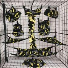 Batman overlay * 15 Pc Sugar Glider Cage set * Rat * double layer Fleece