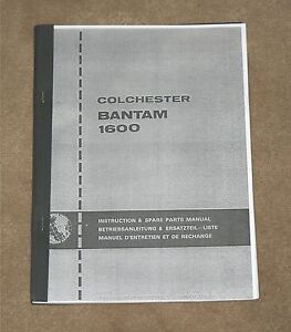 Colchester Bantam 1600 MK2  Lathe Manual