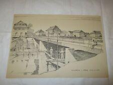 um 1939 Organisation Todt - Kanalbrücke im Elsaß erbaut von O.T. - CENTRAL HOTEL