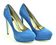 417 Zapatos de Tacón Mujer Elegante Tacones Altos Blink Azul Plataforma Party 41