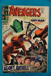 MARVEL COMICS THE AVENGERS #46 11/67 - VINTAGE (80) SILVER AGE ANT-MAN