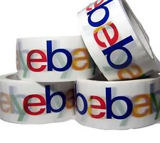 "4 Rolls Ebay Tape Original 4 color 2"" x 75 Yard Branded Packaging Tape BOPP"