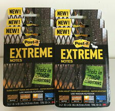 Lot Of 6 Packs New Post It Extreme Notes